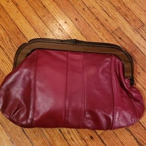 AUTHENTIC LEATHER 1970's Clutch